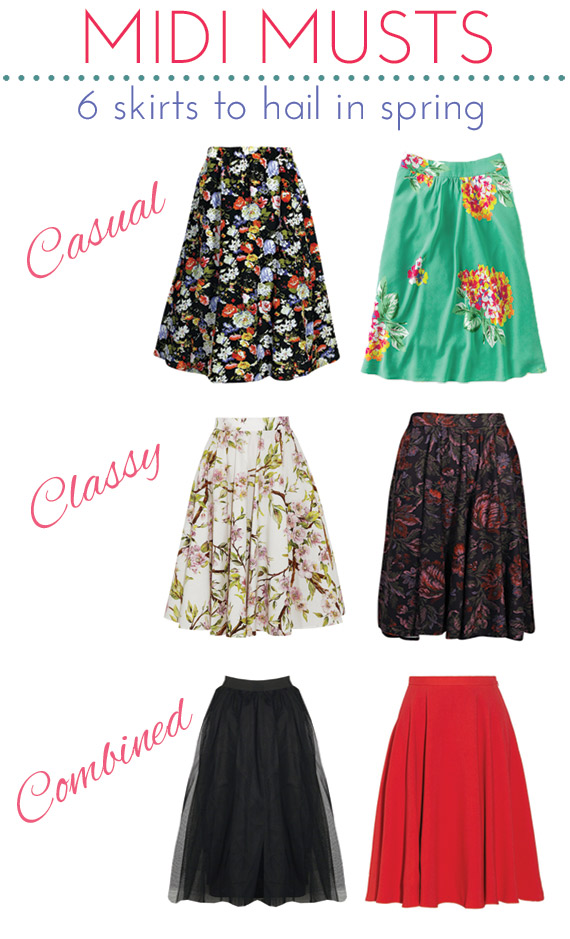 Trend Alert: Midi Skirts to Hail in Spring - Michelle Phan ...