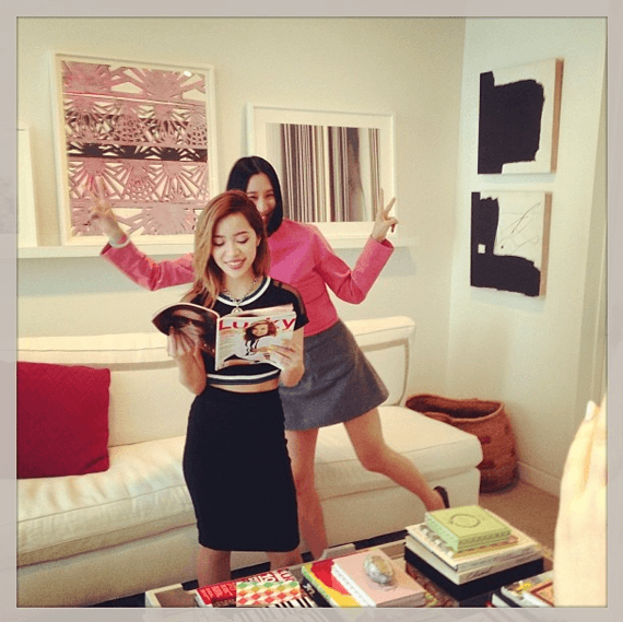 Eva Chen and Michelle Phan