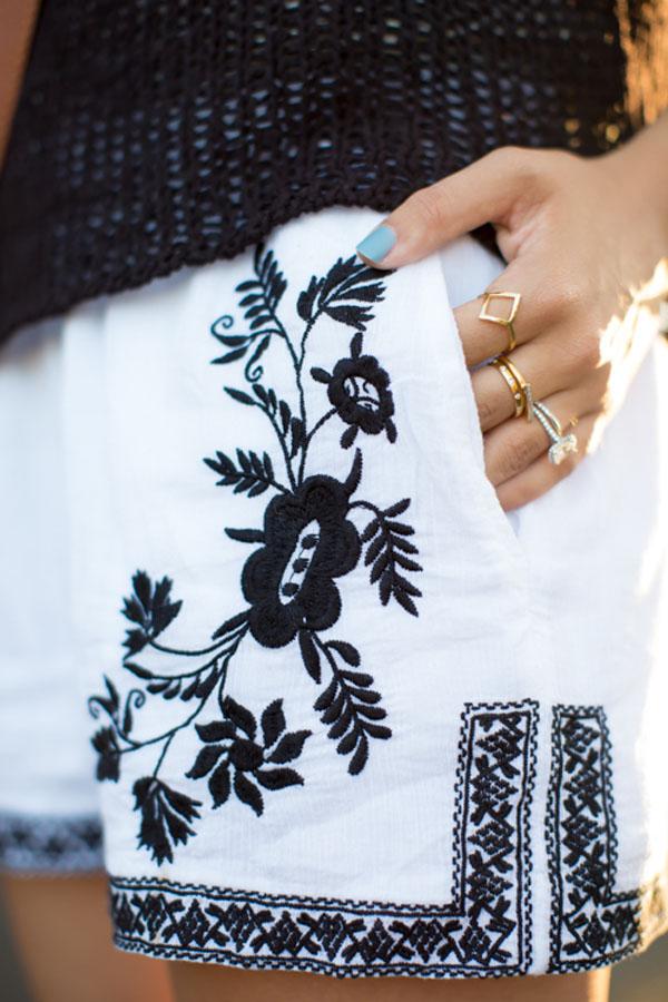 Embellished Shorts | MichellePhan.com