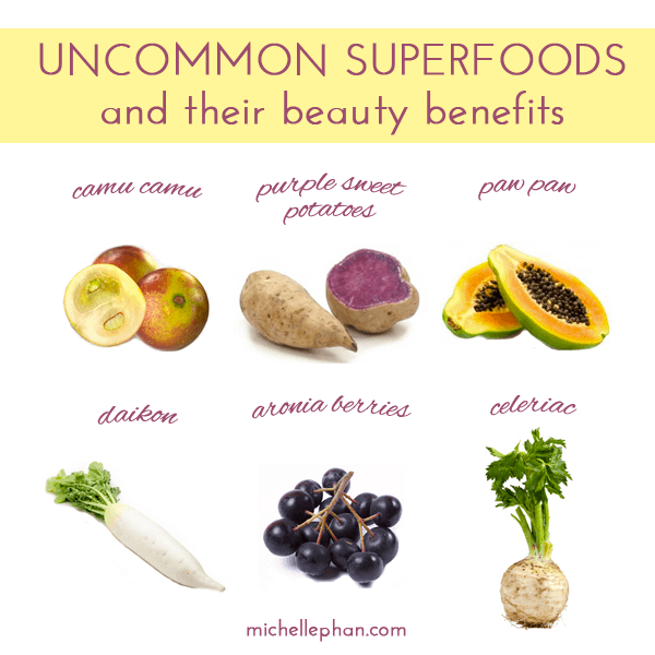 6 un mon superfoods with major beauty benefits