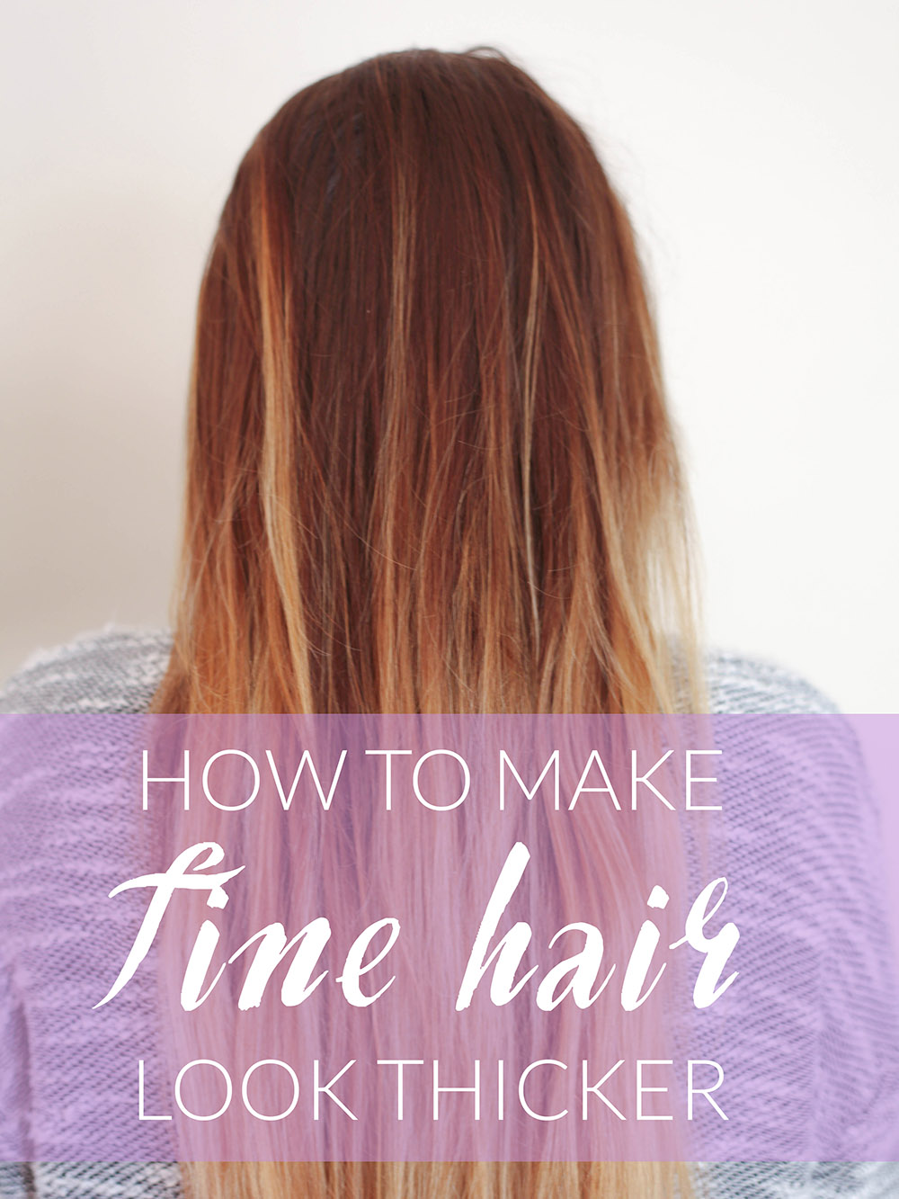 how to make fine hair look thicker - michelle phan – michelle phan