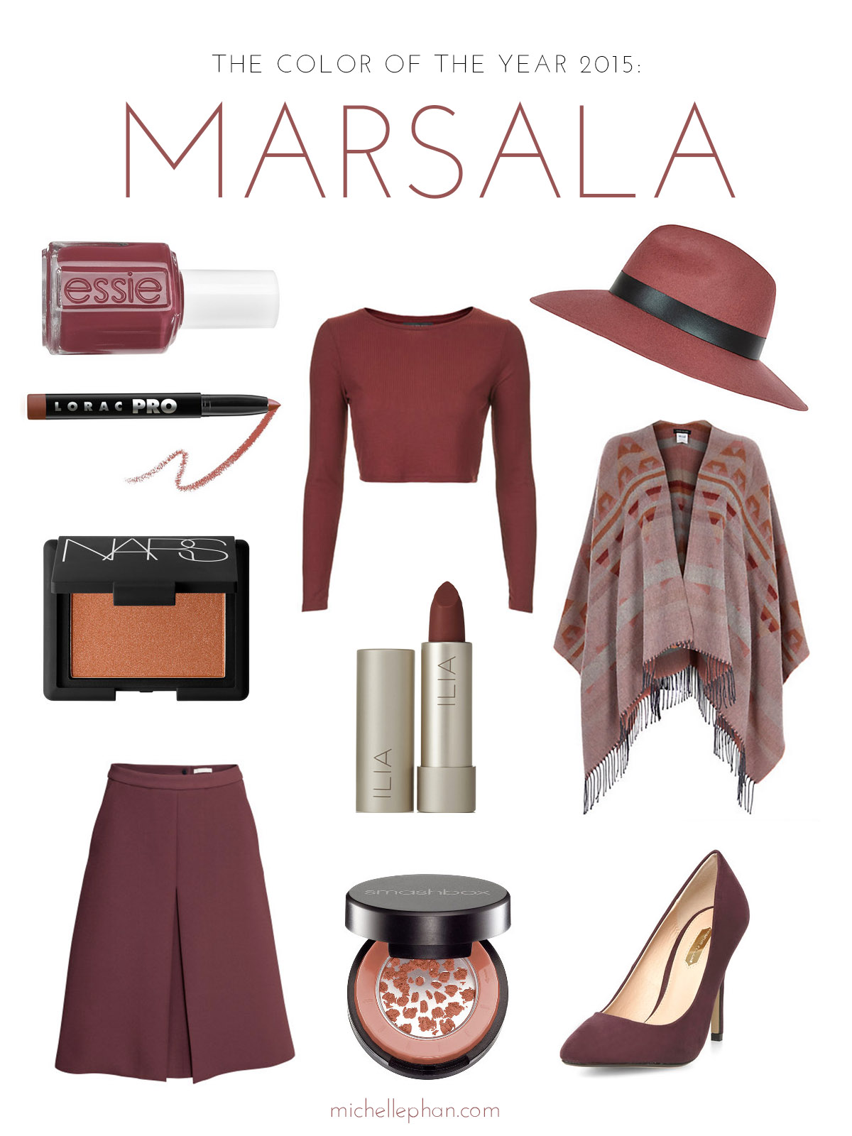 Pantone Color of the Year Marsala in