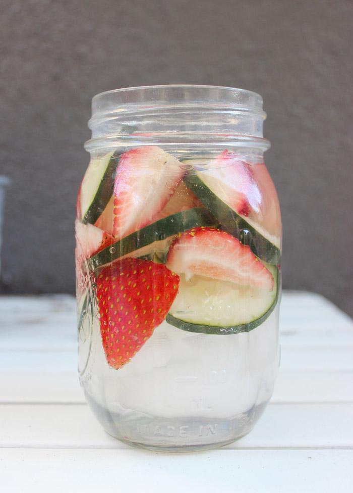 Strawberry Cucumber Water