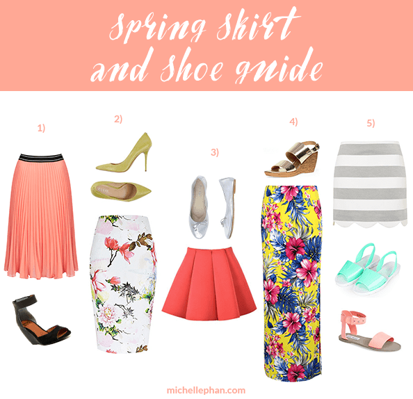 Spring Skirt & Shoe Pairing Guide | MichellePhan.com
