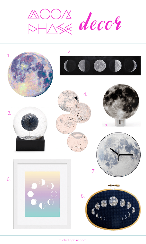 Moon Phase Home Decor | MichellePhan.com