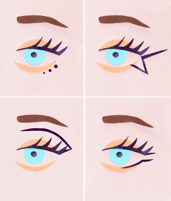Way to apply eyeliner