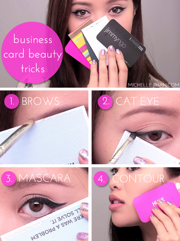 Rewind wednesday using business cards for makeup michelle phan an error occurred colourmoves
