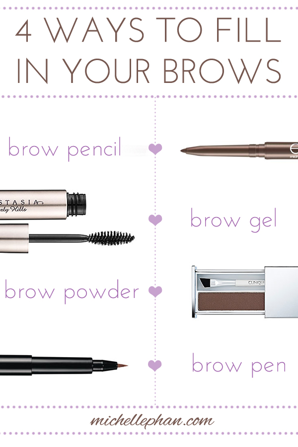 Brow Basics 4 Different Ways To Fill Them In Michelle Phan
